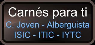 Carnés para ti (C. Joven - Alberguista - ISIC - ITIC - IYTC)